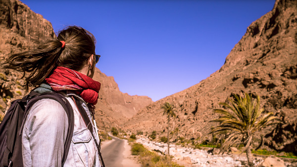 Walking Todra Gorge