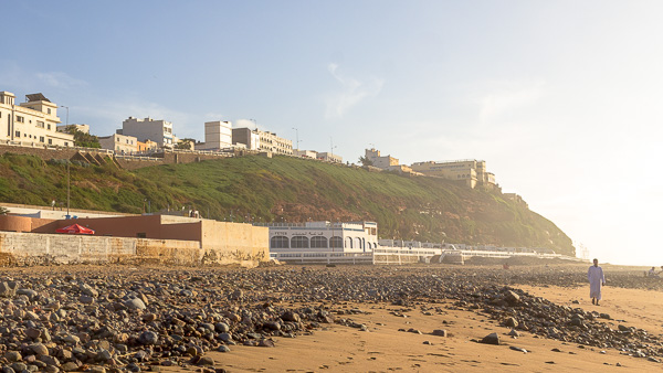 Landscape of a beach in Sidi Ifni, Morocco