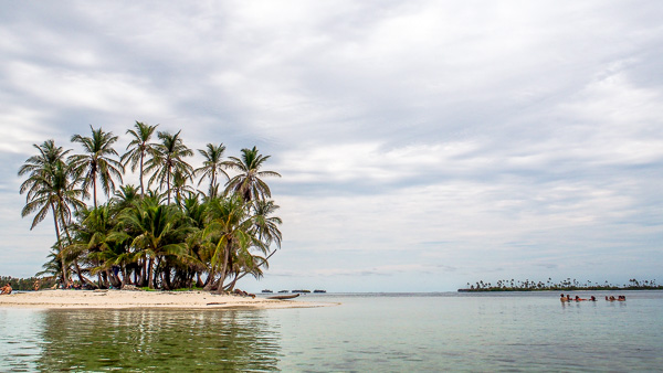 Group of people swimming in the san blas islands