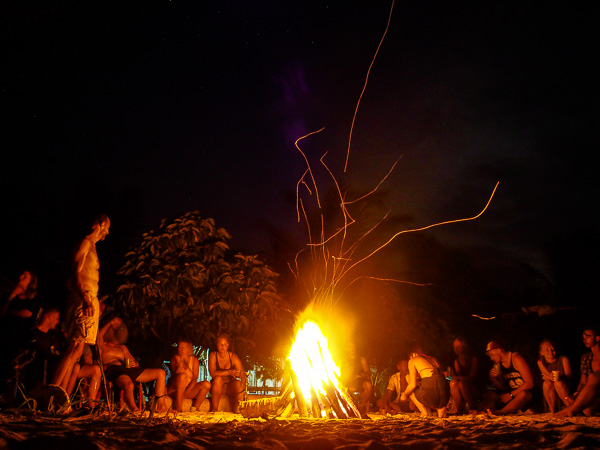 Bon fire in the San Blas Islands