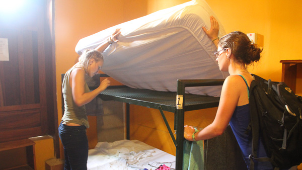 looking for bed bugs while backpacking in central america