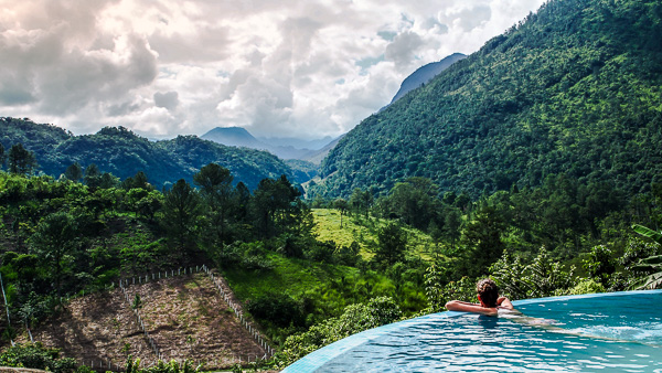 Infinity pool at Zephyr Lodge in Guatemala