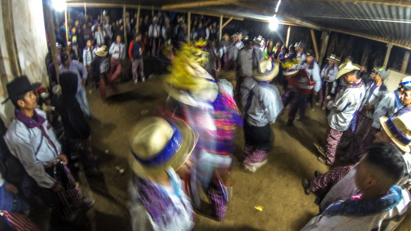 drunk dancing during the day of the dead festival