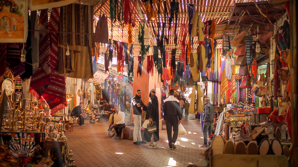 Souk of Marrakesh morocco