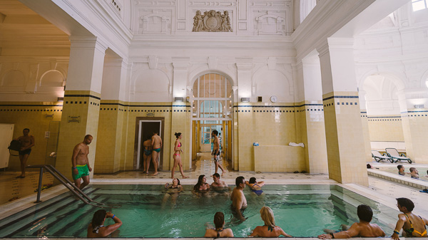 1 of the 15 indoor thermal pool at Szechenyi | Photo by Wei-Te Wong