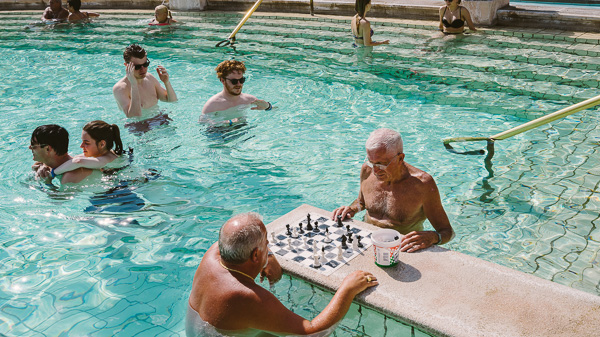 Budapest Bath Houses chess game at Széchenyi
