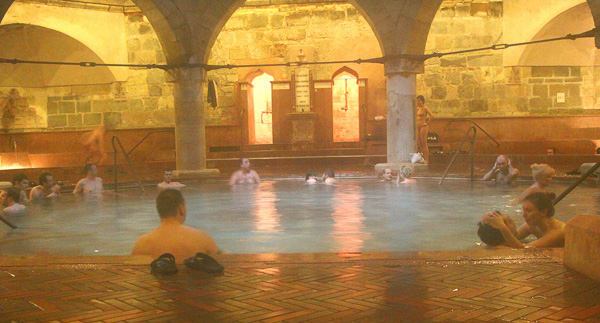 Budapest Bath Houses inside Rudas bathhouse