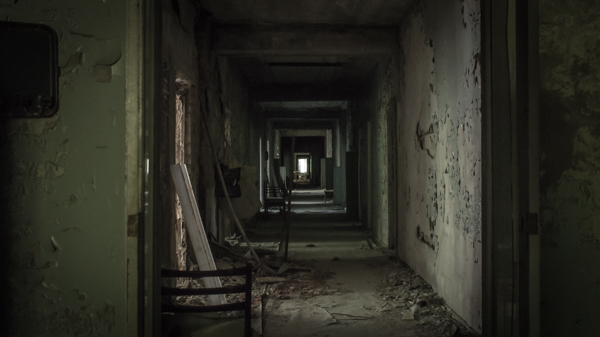 Pripyats hospital in all its eerilyness chernobyl