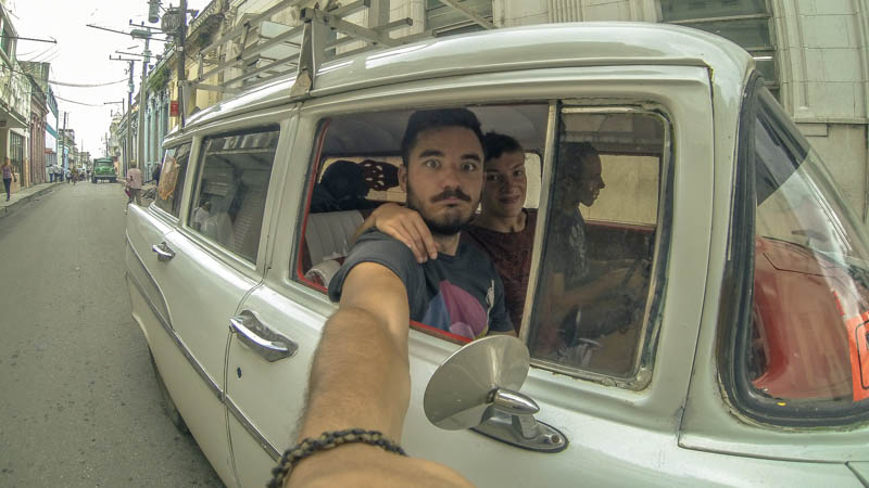 A colectivo taxi we took while backpacking in Cuba