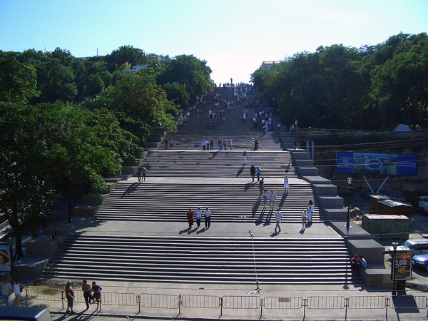The Gigantic Potemkin Stairs | Photo by Pat Berger (https://commons.wikimedia.org/wiki/File%3APotemkinsche_treppe.jpg) CC-BY-SA-3.0 (http://creativecommons.org/licenses/by-sa/3.0/)