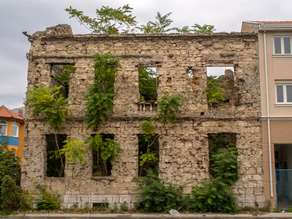 Bombed Building In Mostar