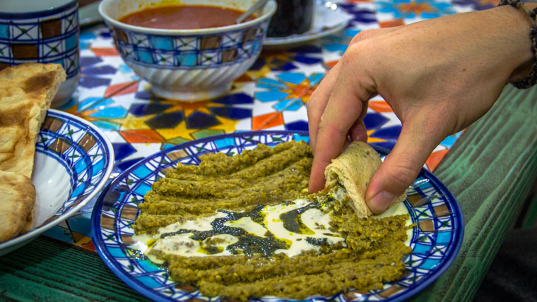 Kashk-e Bademjan a traditional iranian food