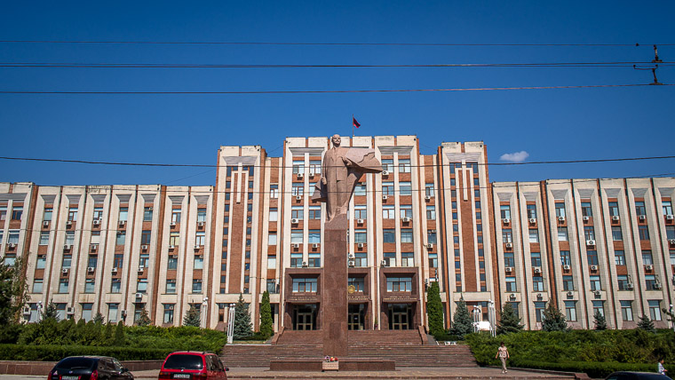 one of two Lenin statues you'll when you travel to Transnistria