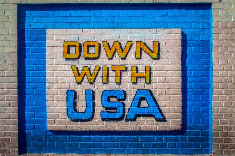 Down with Iran graffiti in Tehran