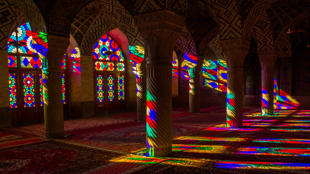 Pink mosque Iran