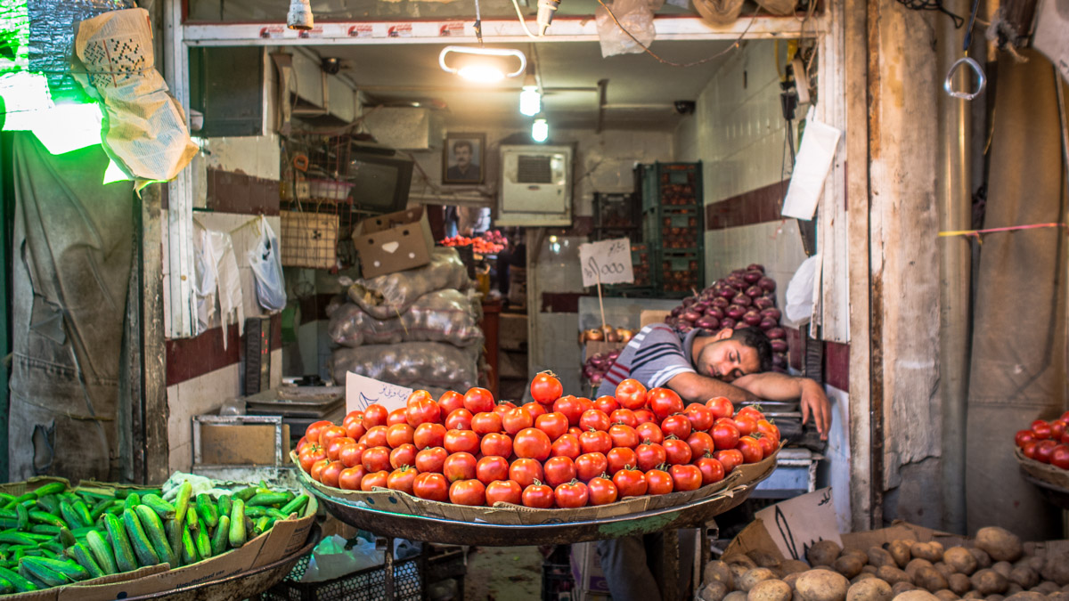 There's cheap market food in Iran
