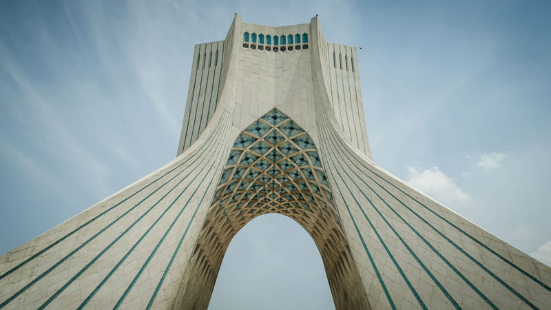 Azadi tower is a beautiful thing to do in Tehran