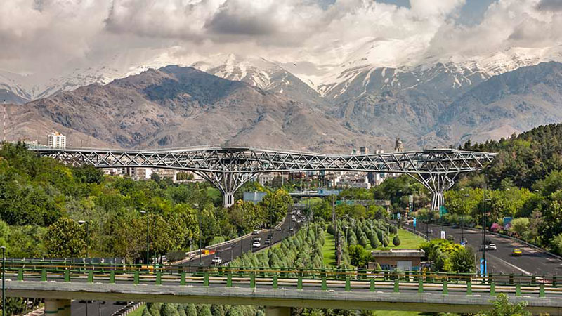 the Tabiat bridge in Tehran