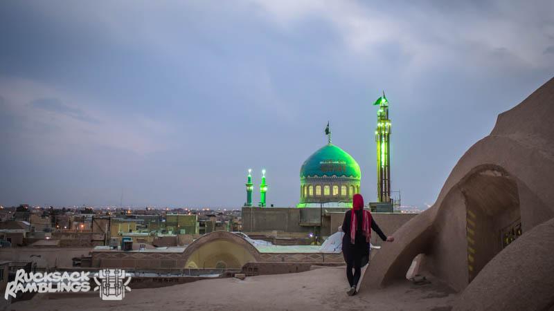 Kashan bazaar rooftop view