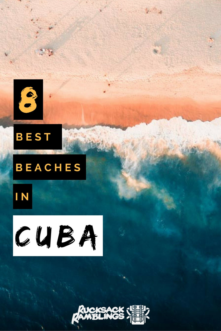 Pinterest Image for the best beaches in Cuba
